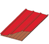 multi rib roof over tongue & groove