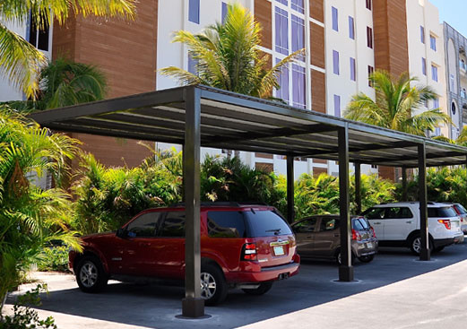 Steel Covered Parking