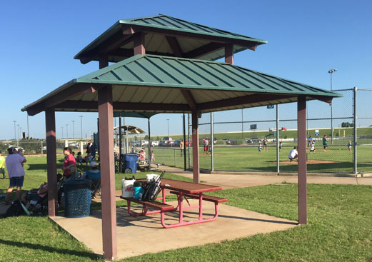 Carnival - Clerestory Square Hip Roof Shade Shelter