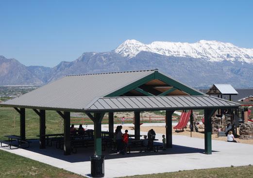 Custom Rectangle Park Shade Shelter