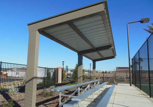 Cantilevered Walkway Cover - Bleacher Cover
