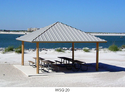 Square Wood Shade Structures