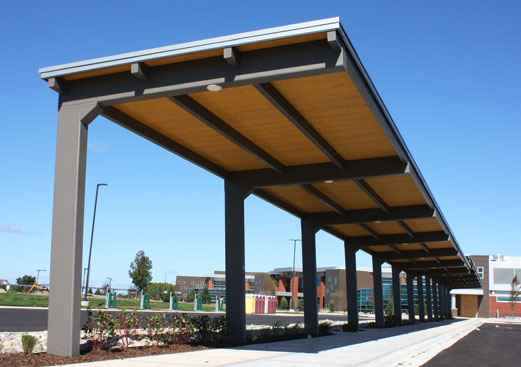 Corporate Campus Walkway Cover