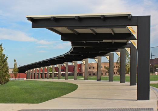 High School Walkway Cover